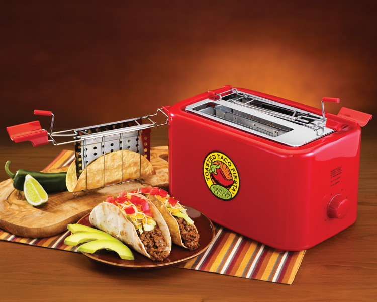 The Taco Toaster, A Small Kitchen Appliance That Makes Crunchy Hard Taco Shells Out of Soft Tortillas