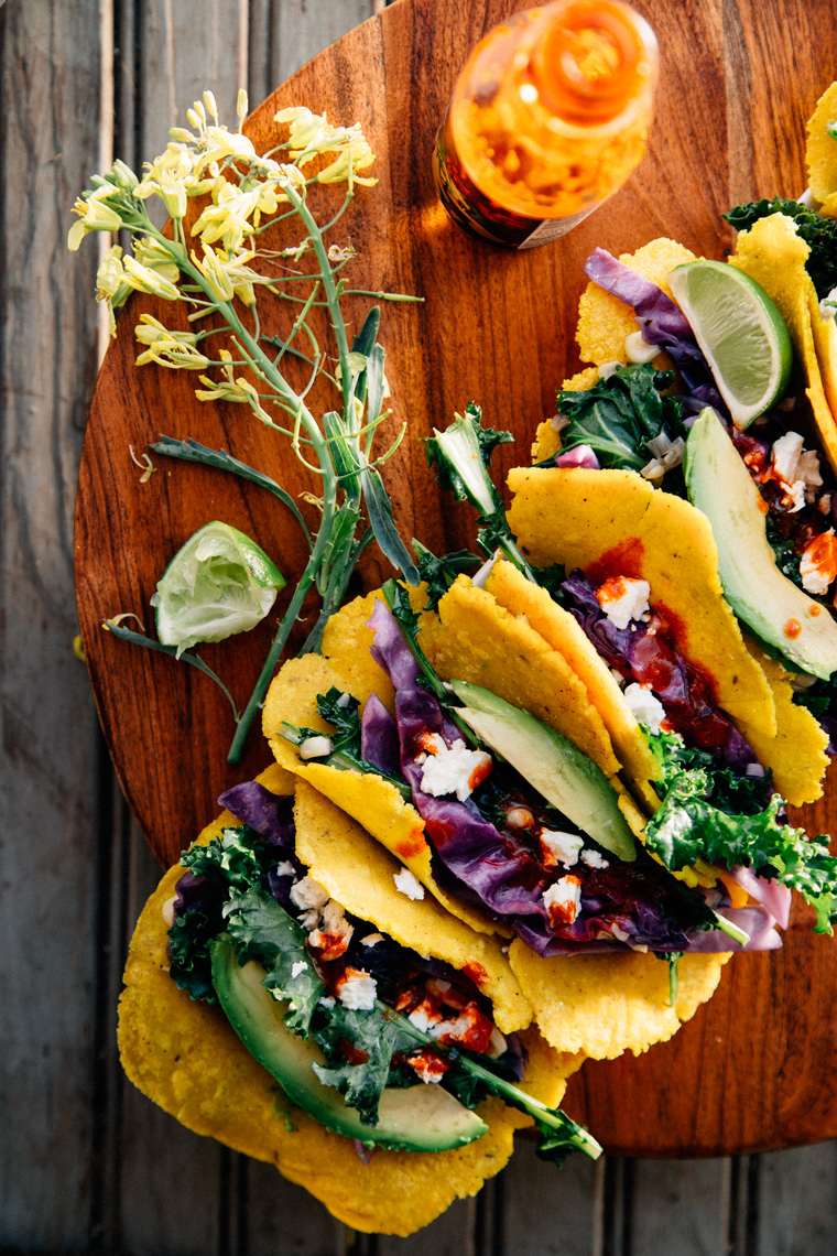 Vegetable Tacos with Feta & Lime