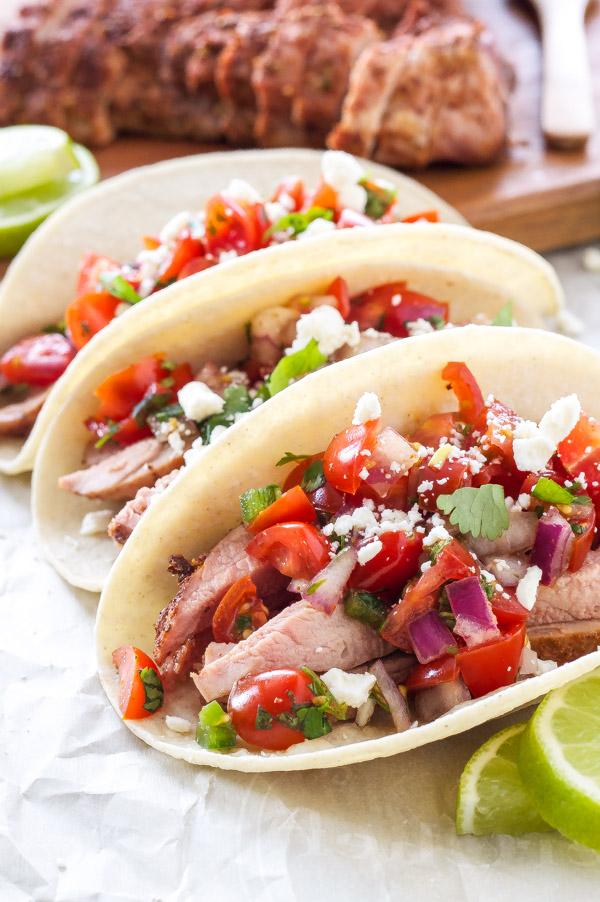 Pork Tenderloin Tacos with Pico de Gallo